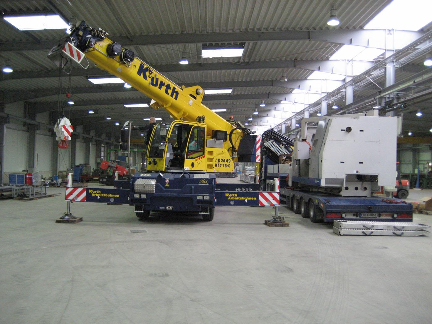 Fotogalerie Parterrearbeiten und Maschinenumzüge - Kurth Autokrane ...