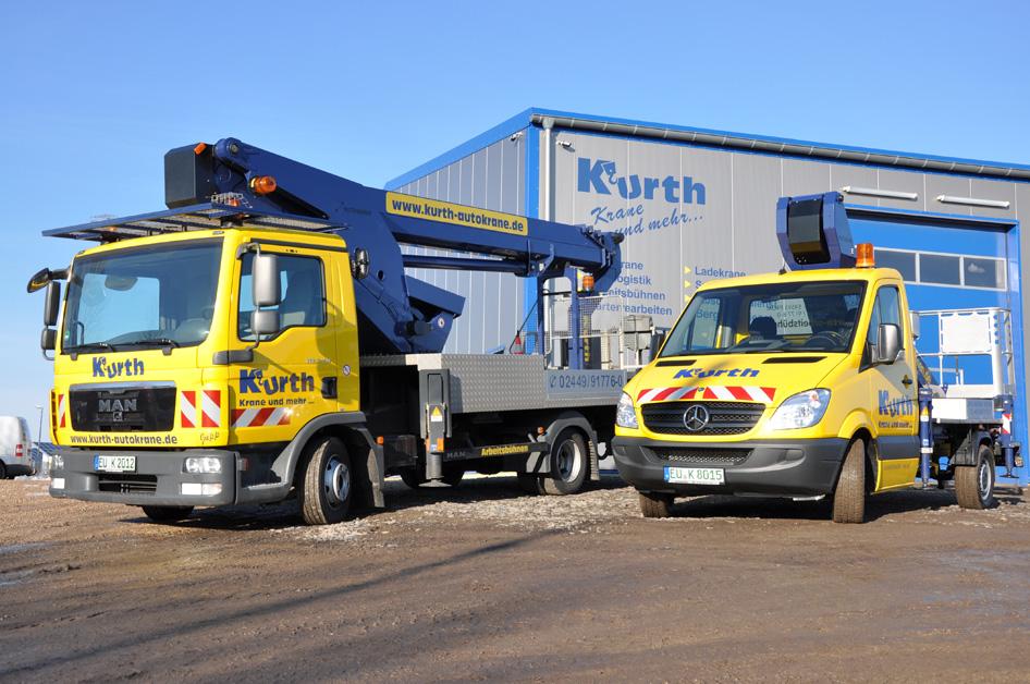 Kurth Arbeitsbühnen – Mit Sicherheit hoch hinaus! LKW-Arbeitsbühnen