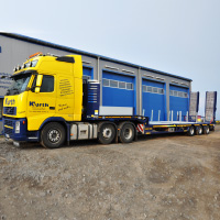 Kurth Autokrane GmbH & Co. KG - Faymonville-Arbeitsbühnen-Tieflader