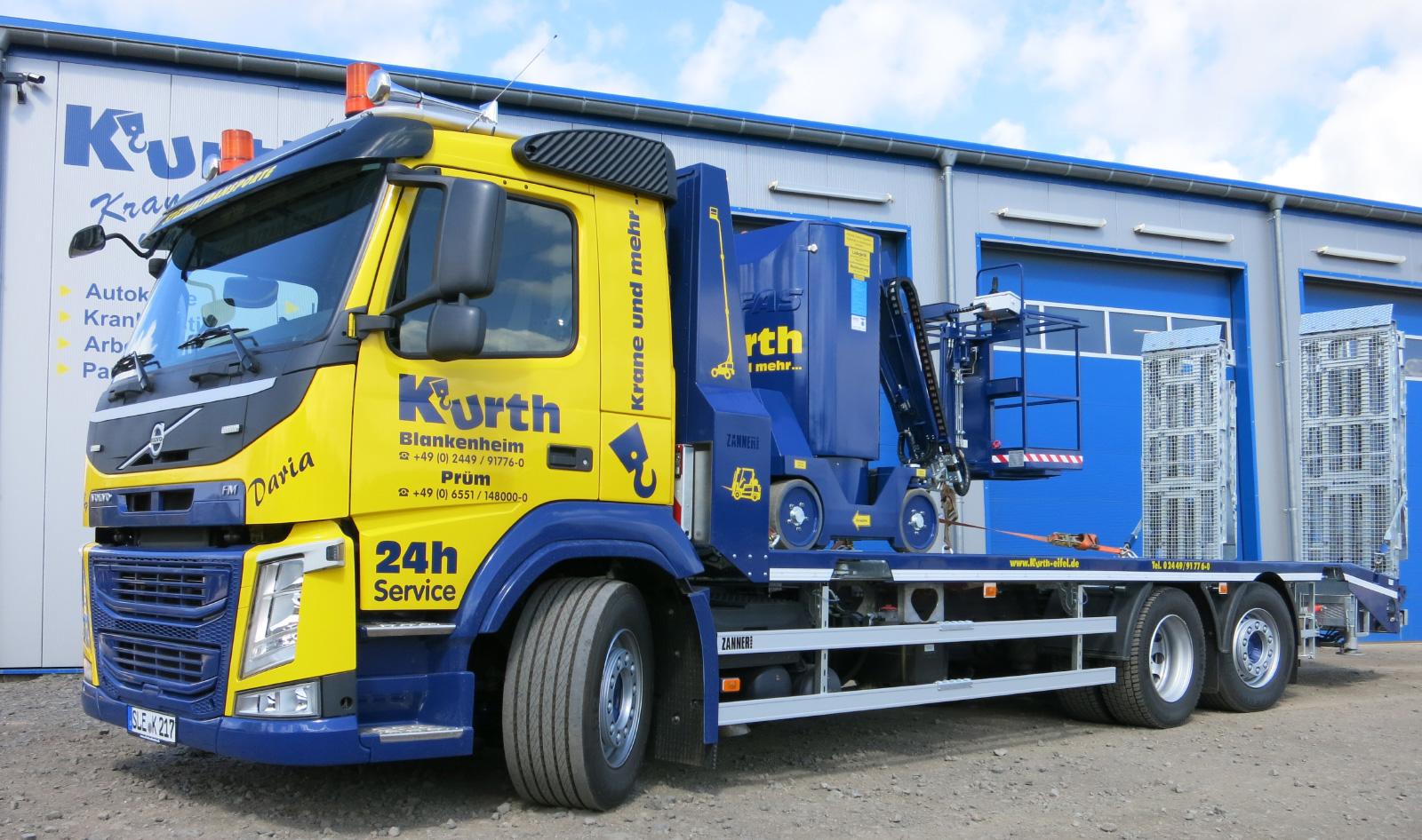 Kurth Autokrane GmbH & Co. KG - 3-Achser ZANNER-Tiefladeraufbau