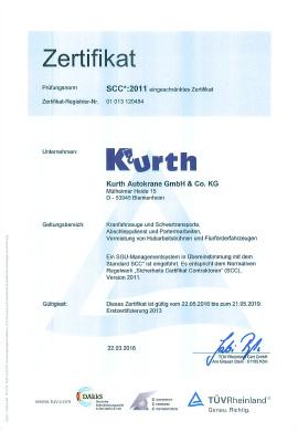 Kurth Autokrane GmbH & Co. KGSCC*-Zertifizierung