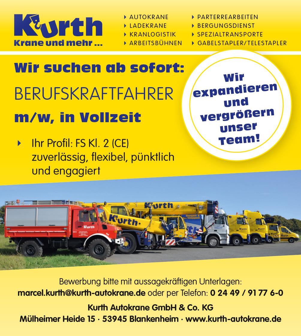 Wir suchen ab sofort: Berufskraftfahrer m/w, mit FS Kl. 2 (CE)