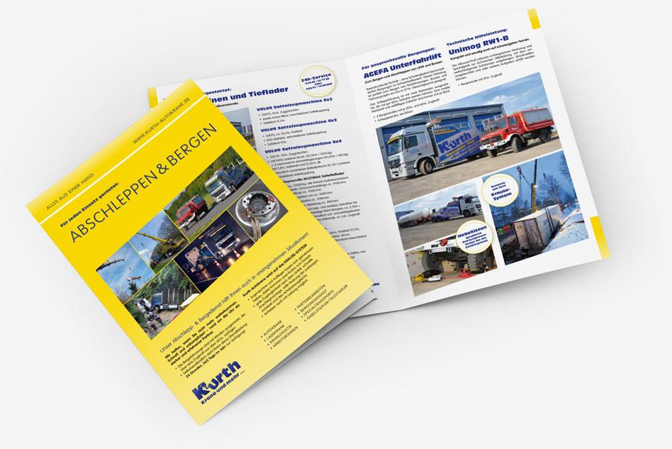 Kurth Autokrane GmbH & Co. KG – Broschüre ABSCHLEPPEN & BERGEN