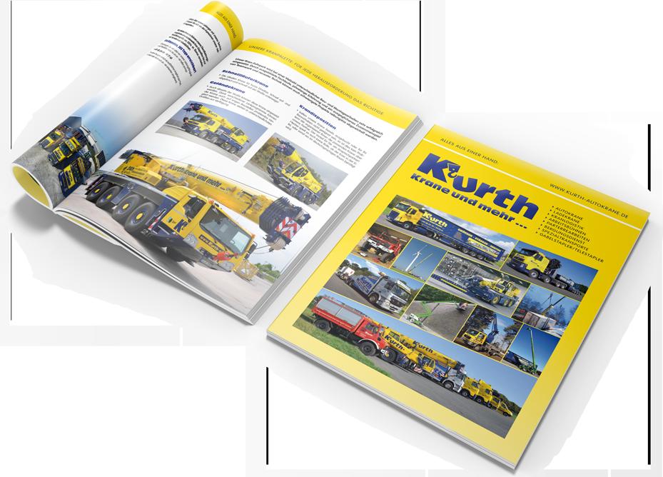 Kurth Autokrane - Unsere aktuelle Firmenbroschüre