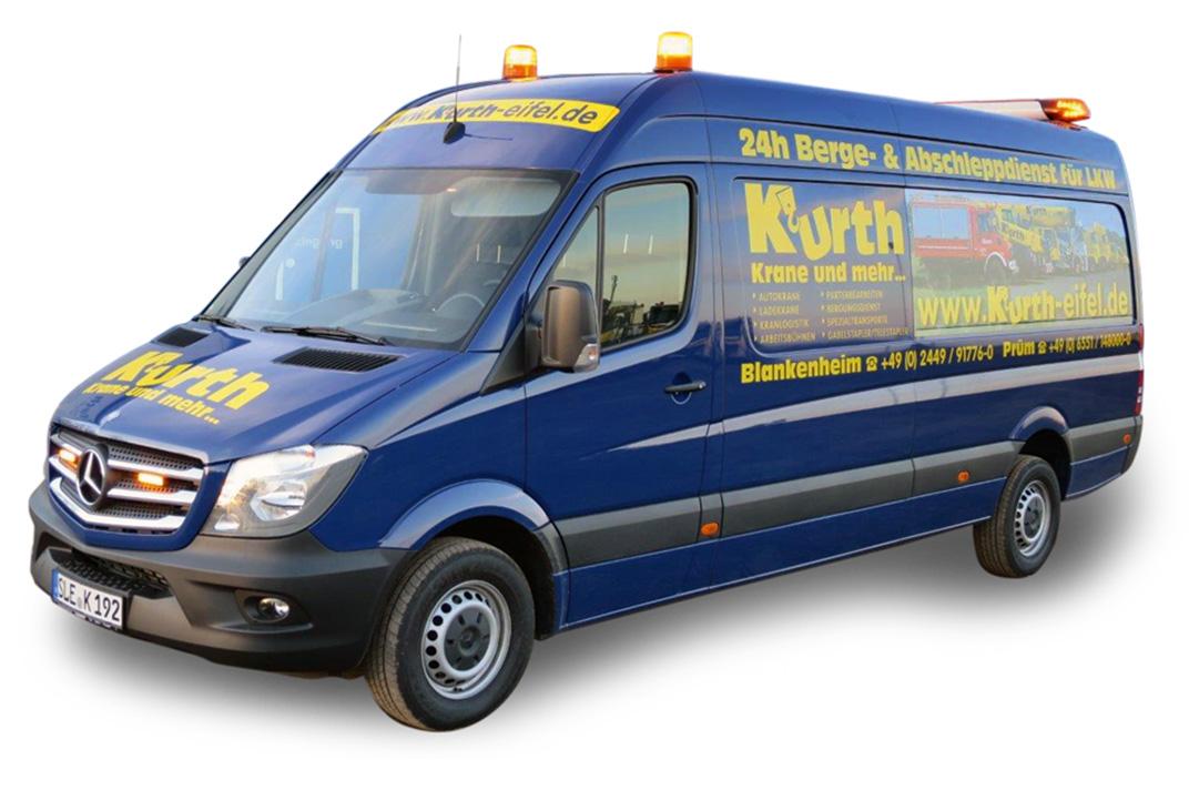 Kurth Autokrane GmbH & Co. KG – Abschleppen & Bergen: Pannenhilfsfahrzeug