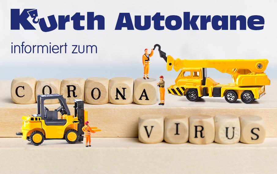"""Kurth Autokrane zum Thema """"Coronavirus"""""""