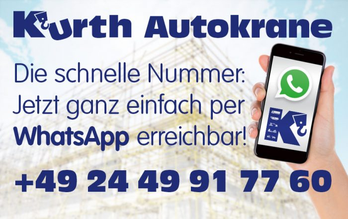 Kurth Autokrane über WhatsApp