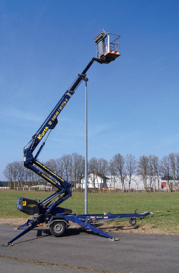 Kurth Autokrane GmbH & Co. KG | Anhänger-Arbeitsbühne AHB160
