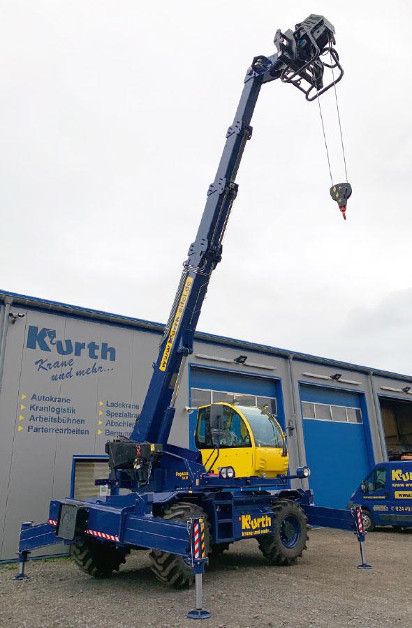 Kurth Autokrane GmbH & Co. KG | Teleskopstapler (starr) TSS3810